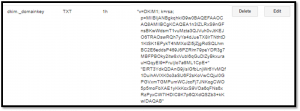 DKIM entry on authoritative DNS server