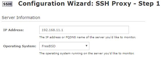 Nagios pfSense SSH Proxy